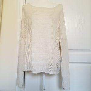 Jennifer Lopez size XL oversized light knit sweate